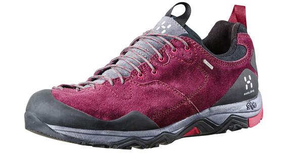 Haglöfs Rocker Leather Shoes Women aubergine